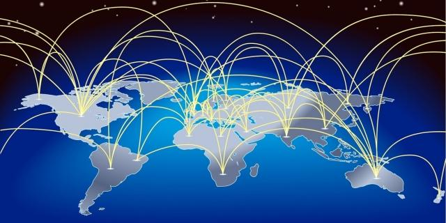 Globe trade connections